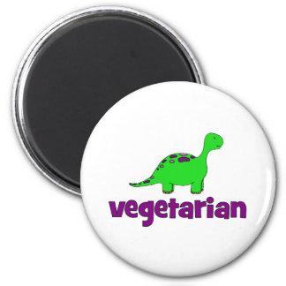 Vegetariano - diseño del dinosaurio imanes