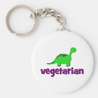 Vegetariano - diseño del dinosaurio llavero personalizado