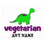 Vegetariano - diseño del dinosaurio postales