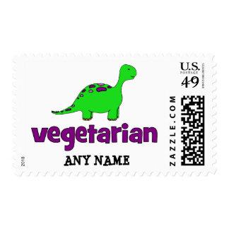 Vegetariano - diseño del dinosaurio envio