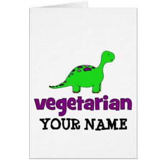 Vegetariano - diseño del dinosaurio felicitación