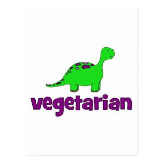 Vegetariano - diseño del dinosaurio tarjetas postales