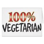Vegetariano el 100 por ciento tarjeta