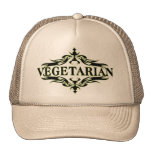 Vegetariano elegante gorras