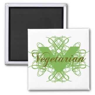 Vegetariano elegante imán para frigorifico
