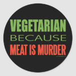 Vegetariano Etiqueta Redonda