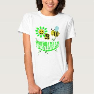 vegetariano feliz de 2 abejas remeras