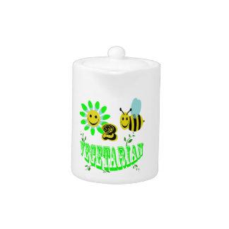vegetariano feliz de 2 abejas