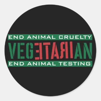Vegetariano furioso etiquetas redondas