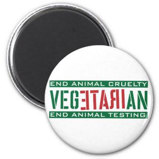 Vegetariano furioso imanes de nevera