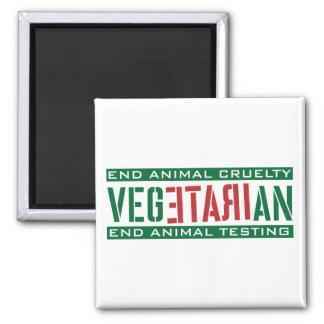 Vegetariano furioso iman de frigorífico