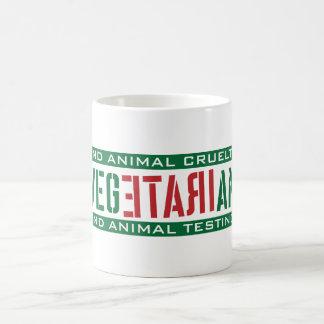 Vegetariano furioso taza básica blanca