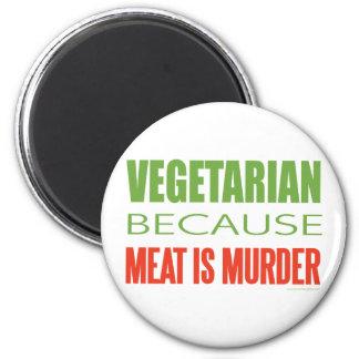 Vegetariano Imán Redondo 5 Cm
