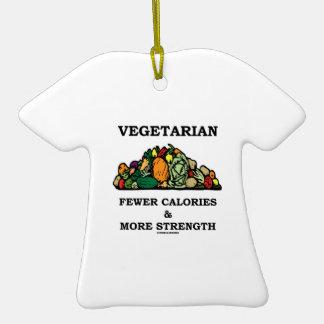 Vegetariano menos calorías y más fuerza ornamentos de navidad
