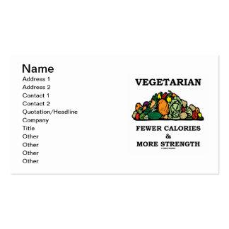 Vegetariano menos calorías y más fuerza tarjeta de visita