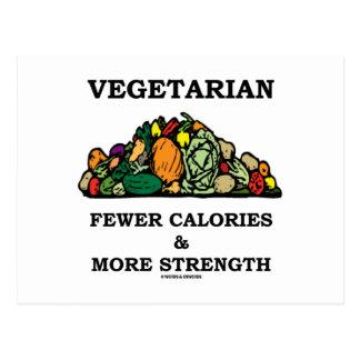 Vegetariano menos calorías y más fuerza postal