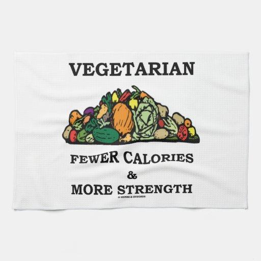 Vegetariano menos calorías y más fuerza toallas