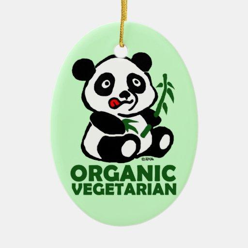 Vegetariano orgánico ornamentos de navidad
