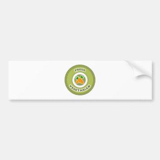 Vegetariano orgulloso pegatina de parachoque