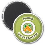 Vegetariano orgulloso imán para frigorifico