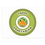 Vegetariano orgulloso postal
