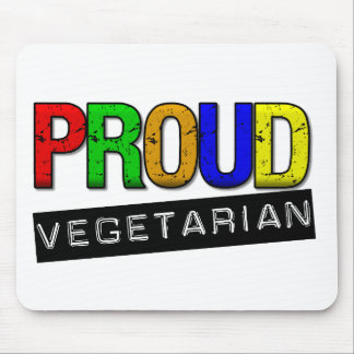 Vegetariano orgulloso tapetes de ratones