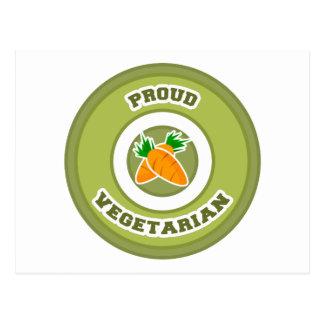 Vegetariano orgulloso tarjetas postales