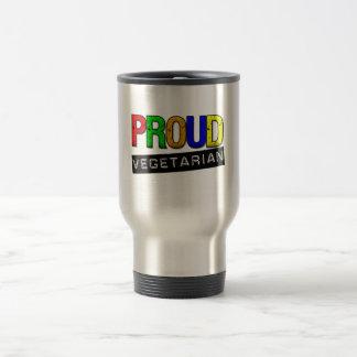 Vegetariano orgulloso taza de café