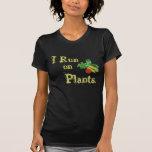 Vegetariano para la vida - corro en las plantas camiseta