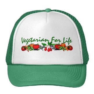 Vegetariano para la vida gorras de camionero