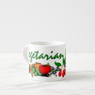 Vegetariano para la vida taza de espresso