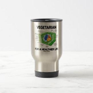 Vegetariano por una vida más sana (célula de la pl taza