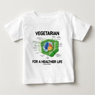 Vegetariano por una vida más sana (célula de la playeras
