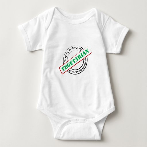 Vegetariano sellado body para bebé