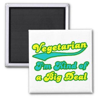 Vegetariano soy un poco una gran cosa imán cuadrado