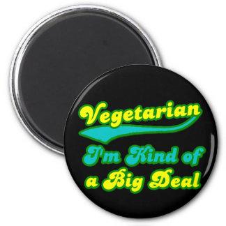 Vegetariano soy un poco una gran cosa imán redondo 5 cm