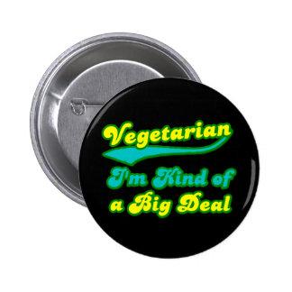 Vegetariano soy un poco una gran cosa pin redondo 5 cm
