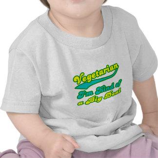 Vegetariano soy un poco una gran cosa camiseta
