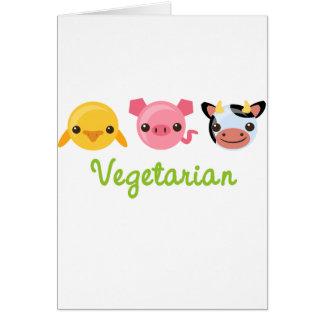 Vegetariano Tarjeta De Felicitación