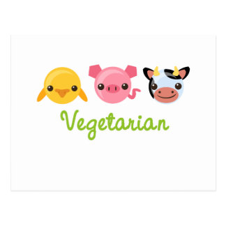 Vegetariano Tarjeta Postal