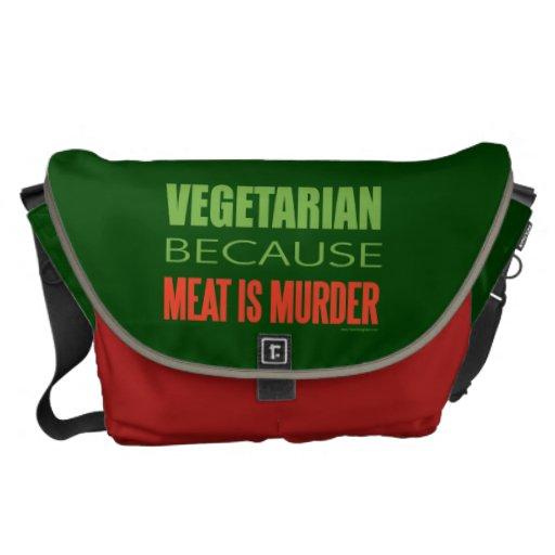 Vegetariano, vegano, los derechos de los animales bolsas messenger