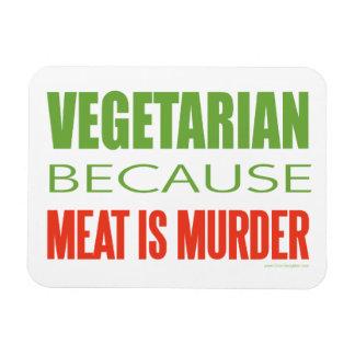 Vegetariano, vegano, los derechos de los animales imanes de vinilo