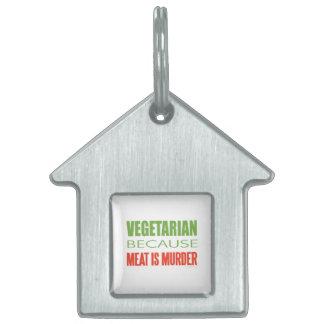 Vegetariano, vegano, los derechos de los animales placas mascota