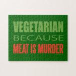 Vegetariano, vegano, los derechos de los animales rompecabezas