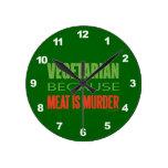 Vegetariano, vegano, los derechos de los animales reloj