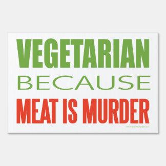 Vegetariano, vegano, los derechos de los animales señal