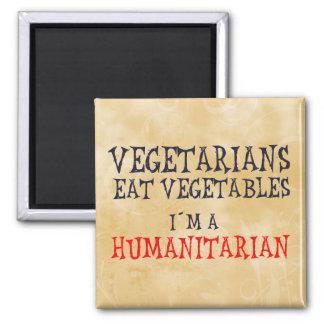 Vegetarianos Imán Cuadrado