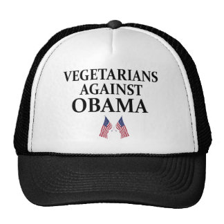 vegetarians against obama trucker hat