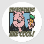 Vegetarians are Cool Classic Round Sticker