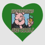 Vegetarians are Cool Heart Sticker